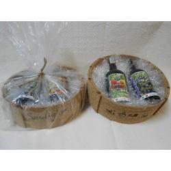Cesto regalo in Sughero con 4 bottiglie miste