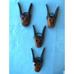 Maschera con le corna artigianato sardo