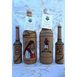 Bottiglia artigianato sardo in sughero
