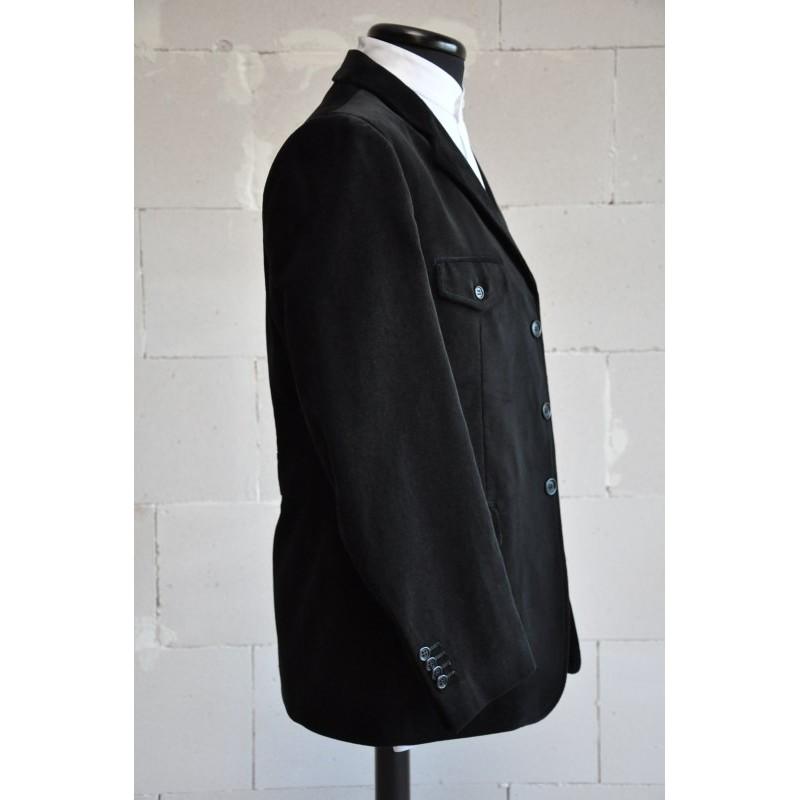 giacca tipica sarda in velluto nero